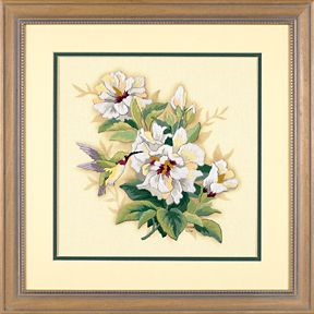 Dimensions - Crewel Embroidery - Large - Hibiscus Floral #01544