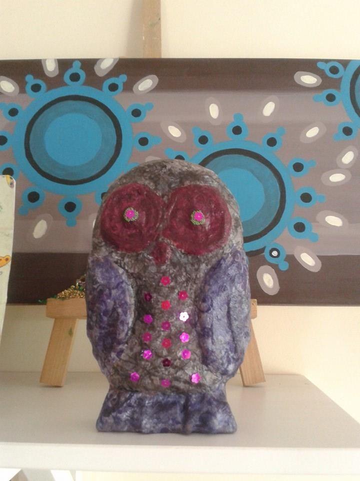 Fancy Owl - handmade Copyright@ Laura Ciocoiu