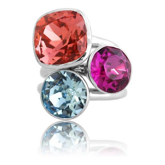 Santorini Summer 2018 Stacker Ring Set #bling #MarisaKateDesigns #Swarovski #crystal #jewel #sterlingsilver