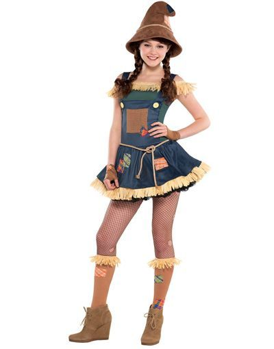 Teen Girls Scarecrow Costume - The Wizard of Oz - Party City