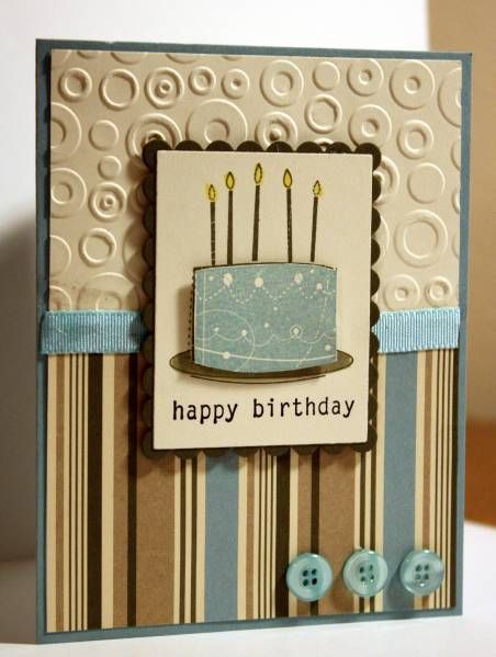 Nice masculine birthday card using SU Birthday Whimsy set!
