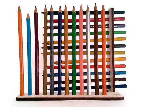 Laser cut wood pencil organizer,desk accessories,wood pencil holder,desk accessory,gift for artists,wood pencil stand,desktop accessories