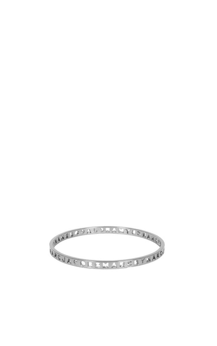 Armband Punched Logo Bangle SILVER - Marc by Marc Jacobs - Designers - Raglady