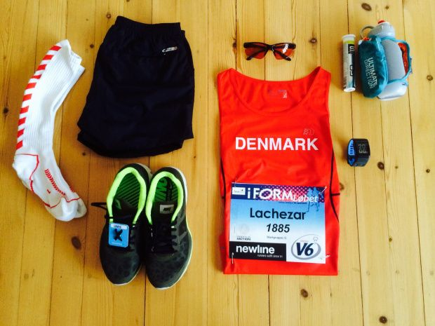 Getting your clothing and gear ready the day before your running race is important :)