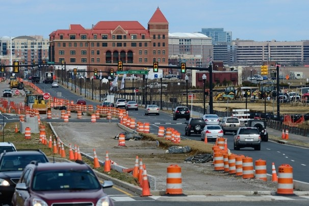 D.C. area's first bus-only lanes under construction in Northern Virginia - The Washington Post