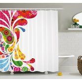Found it at Wayfair.ca - Colourful Home, Paisley Leaves with Floral Elements Inside Carnival Inspired Retro Design Shower Curtain Set
