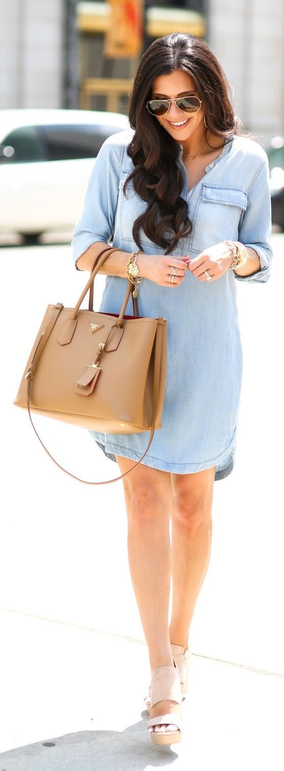 Chambray Shirt Dress by The Sweetest Thing