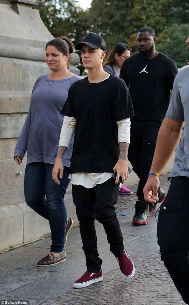 All Around The World: Justin Bieber checked out the sights of Berlin on Monday as he enjoyed a break from his promo tour