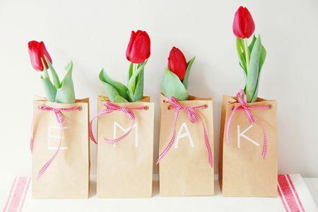 Leuk voor een lente bruiloft: Tulpen als bedankje!