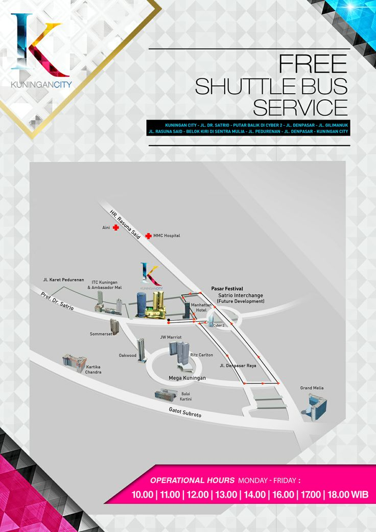 Enjoy Free Shuttle Bus Service running every 1 hour from 10AM until 06PM during weekdays
