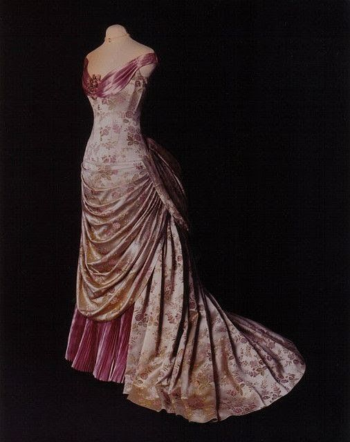 The HoopSkirt Society — 1890's bustled gown