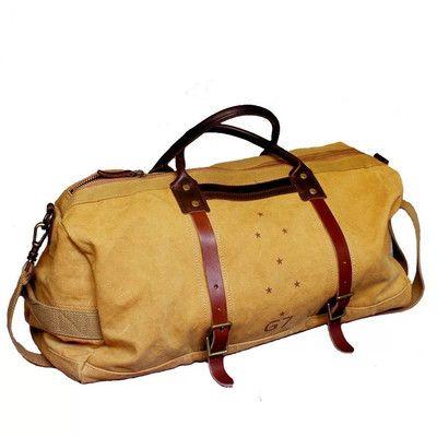 Waxed Canvas Duffle Bag / Weekend Bag / Duffel Bag Men / Men Duffle Bag / Weekender Bag / Leather Duffle Bag / Mens Duffel Bag / Gym Bag(S62)
