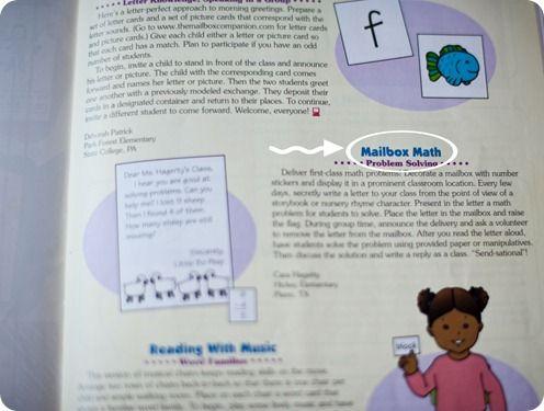 mailbox math & Literacy