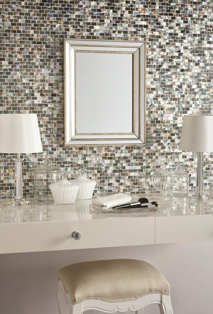 Mother Of Pearl Dark Brickbond Mosaics Are Made From Natural Shell Part 78