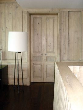 limed white oak doors