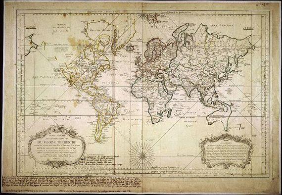 Carte de la carte mondiale, ancienne, anciennes cartes du monde, 25