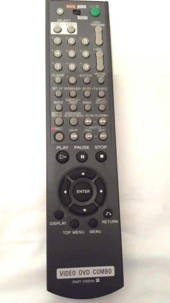 Sony DVD Combo Remote Control RMT-V501A V501C V501E SLV-D281P