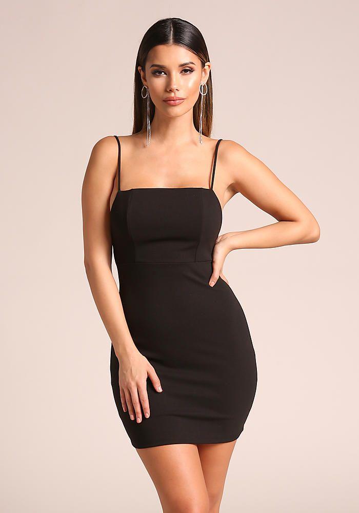 4fec31d223 Black Low Back Bodycon Dress - New