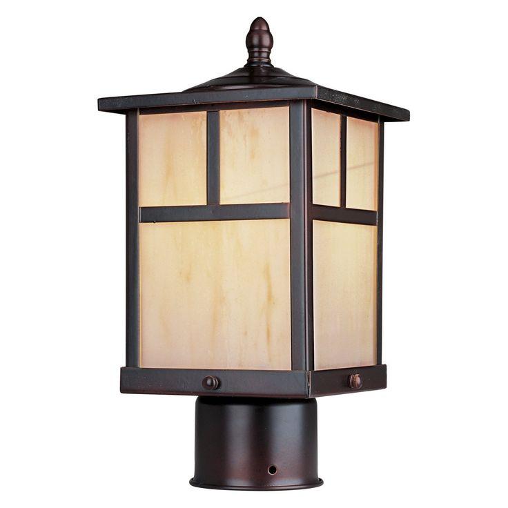 Maxim Lighting 4055HOBU Craftsman Post Mount Light, Burnished - Outdoor Post Lights - Amazon.com
