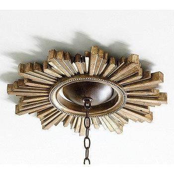 Золотой Санберст Потолок Медальон
