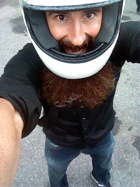 Aaron Kaufman. Gosh, I love him. He'd be so much fun to hang out with! #TheBeardedWonder hahaha :)