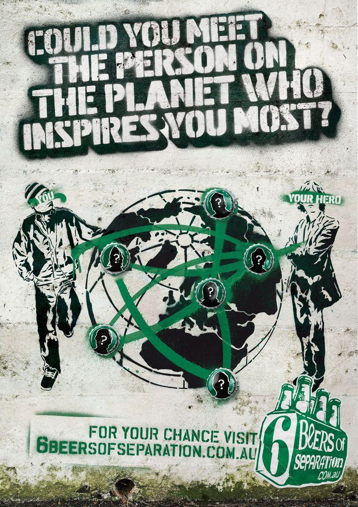 Tooheys - Advertising posters, illustration, graffiti, spray paint, design, stencil art, typography, organic textures.