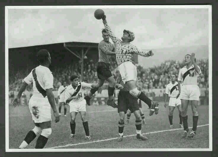 Peru 4 Austria 2 in Berlin in August 1936 at the Olympic Games, Quarter Finals.