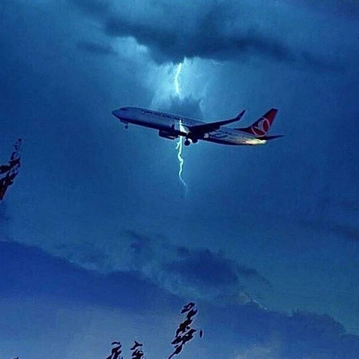 "1,465 Likes, 6 Comments - Vikram Kumar (290k) (@aviation4u) on Instagram: ""Amazing shot Turkish Airlines Boeing 737 getting struck by lighting!"""