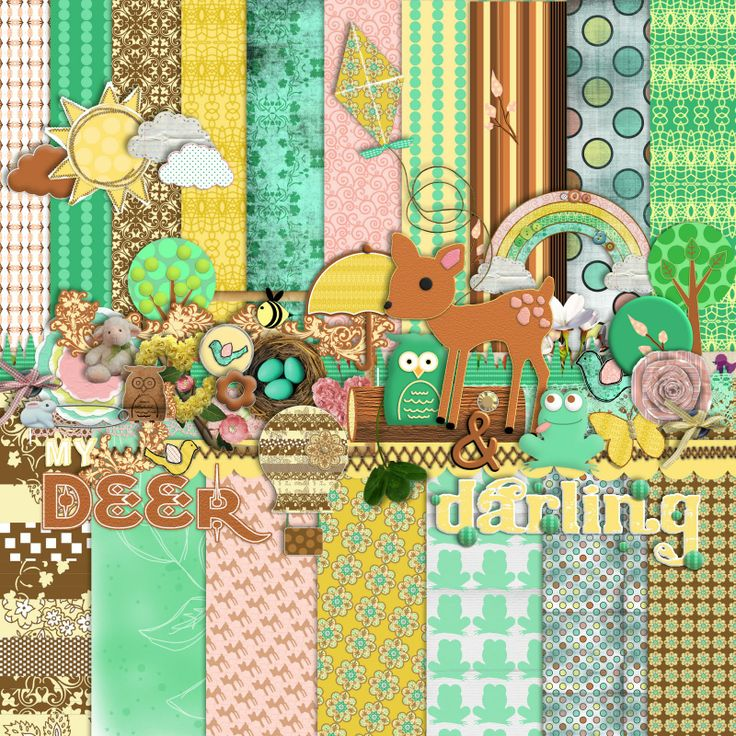 Free Spring Themed Digital Scrapbooking Mega Kit (re-release)