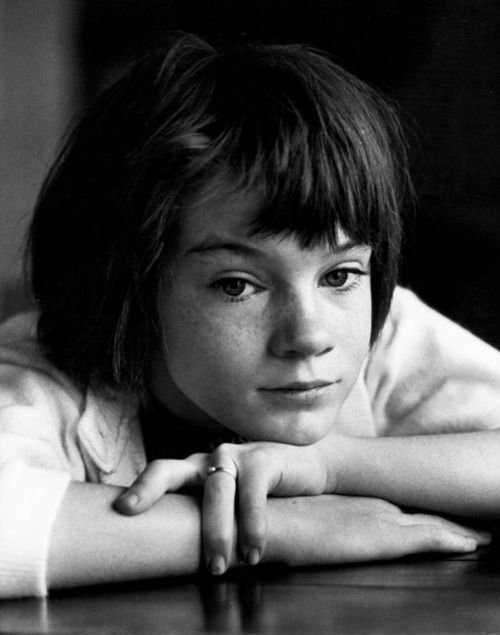 "Mary Badham as ""Scout"" Finch in To Kill a Mockingbird, 1962."