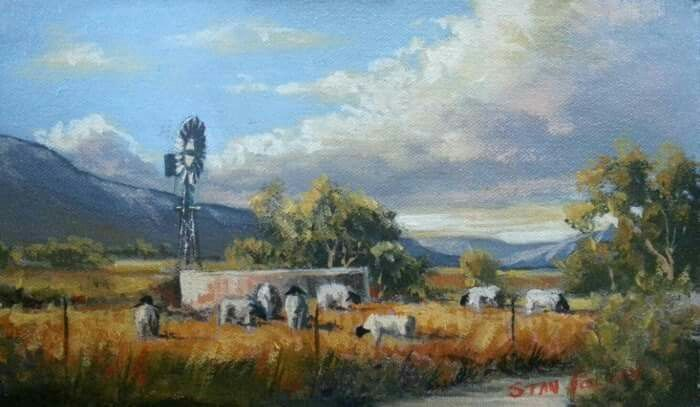 "AVAILABLE!! ""Little Karoo"" by very talented artist STAN POLSON Oil on Board Size:  22 x 13cm  Price:  R775 (Unframed) Remember we ship nationwide and internationally with very reliable couriers!!  For more info phone Lientjie on +2783 630 2143 or email lientjie@robertbadenhorst.co.za"