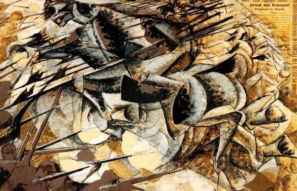 Umberto Boccioni: Lancers