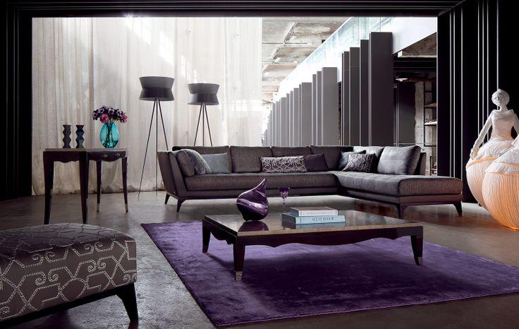 roche bobois perception modular sofa living room. Black Bedroom Furniture Sets. Home Design Ideas