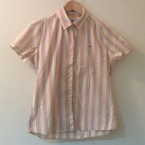 Authentic Lacoste Polo Shirt Classic and playful Lacoste button down polo shirt! Size: 36 Lightly used. Lacoste Tops Button Down Shirts