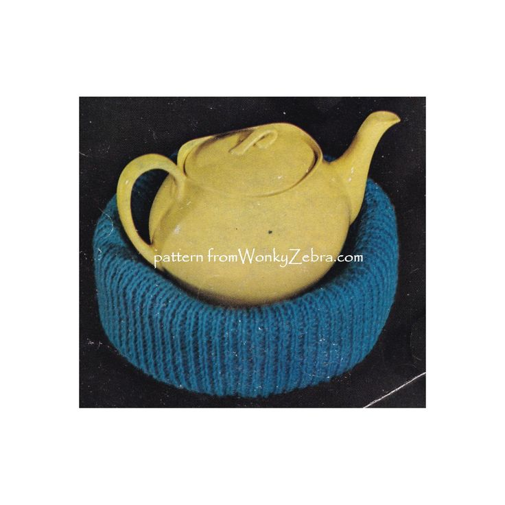 WZ901 tea pot nest for keeping base of pot warm; with matching tea cosies also. Sirdar 2213 or 5611 tea cosieds included in pattern (crochet and knitted)