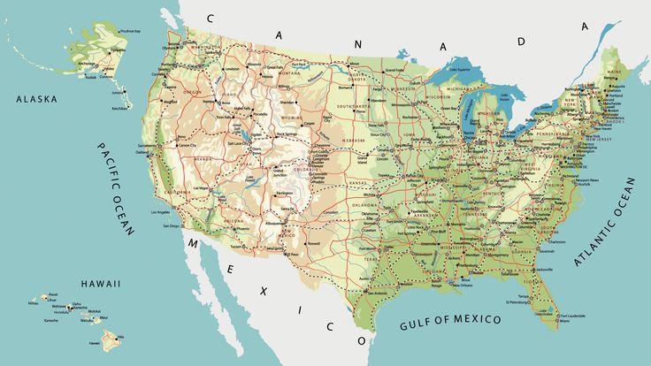 Mapa de carreteras de Estados Unidos