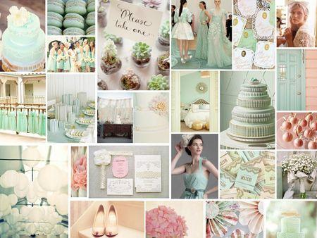 pèche et menthe  inspiration couleurs  Pinterest