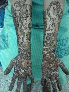 Rajasthani Mehndi Designs for Full Hands 7