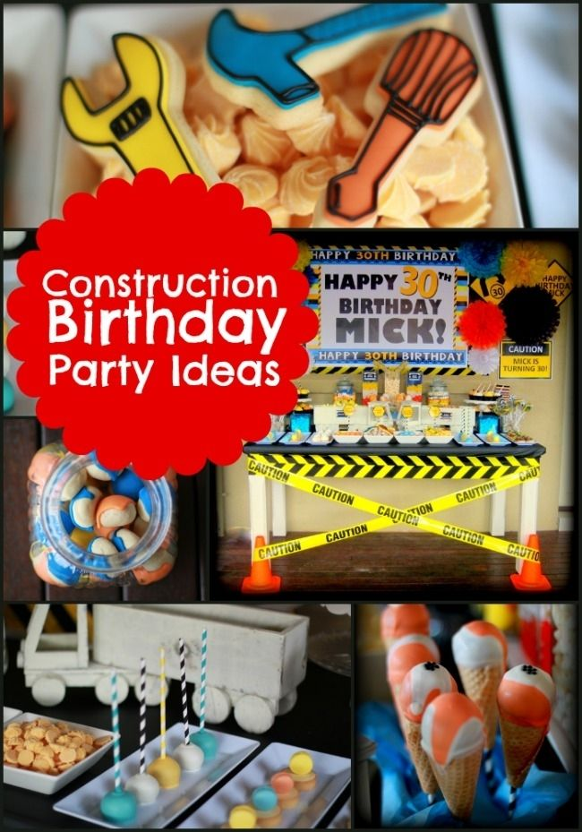 Construction Themed Birthday Party Ideas for Boys www.spaceshipsandlaserbeams.com