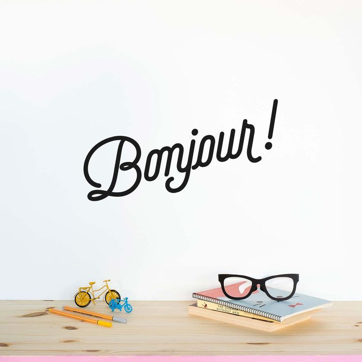 Bonjour! - Wall Decal by MADE OF SUNDAYS