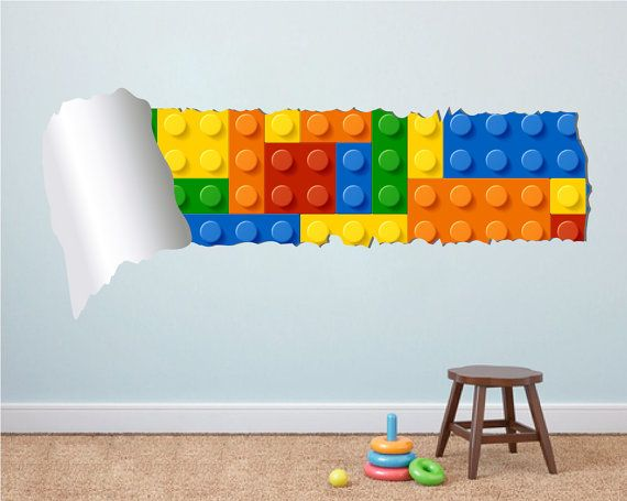 Lego Effect Style Torn Wall Stickers Apply this Lego Effect Style Torn Wall  Stickers in any