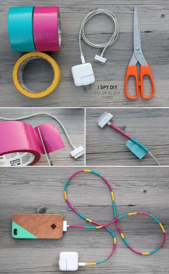Such a cute and easy way to brighten up chords for your beloved tech. gadgets.