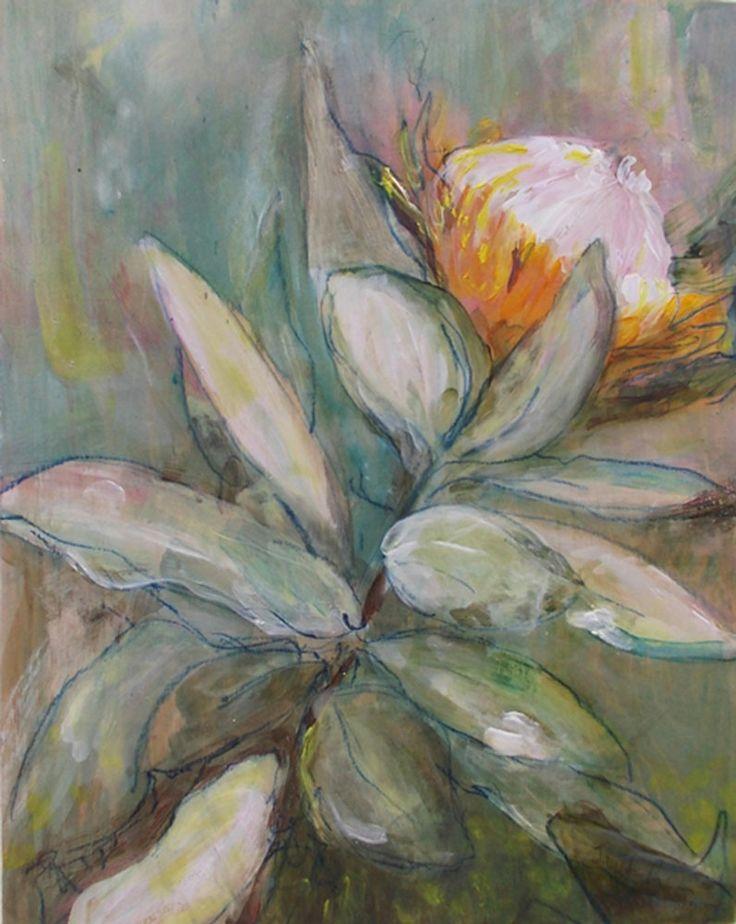 Protea Aborea by Janet Ranson #protea #floral #art