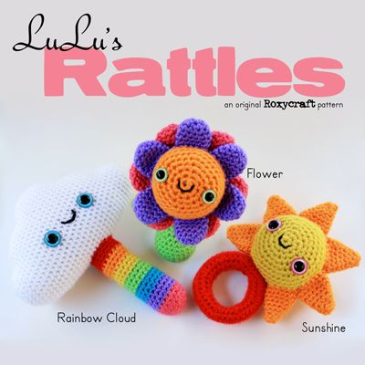 Free Crochet Pattern Baby Rattle : 13 best images about Crochet Baby Rattles on Pinterest ...