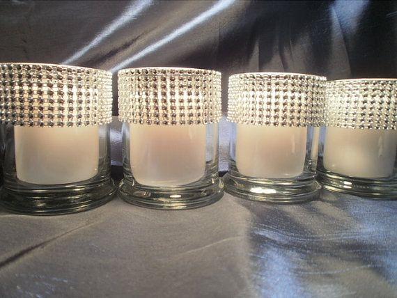 Glam Bling Set of 6 Rhinestone Ribbon Cylinder Baby Shower Bling Bridal Shower Bling Bling Wedding on Etsy, $15.98 CAD