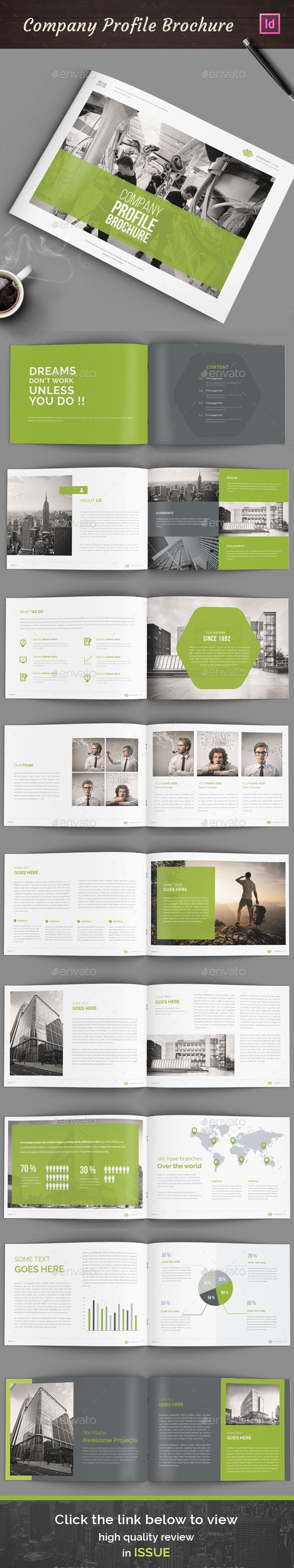 Annual Report Brochure Template InDesign INDD. Download here…