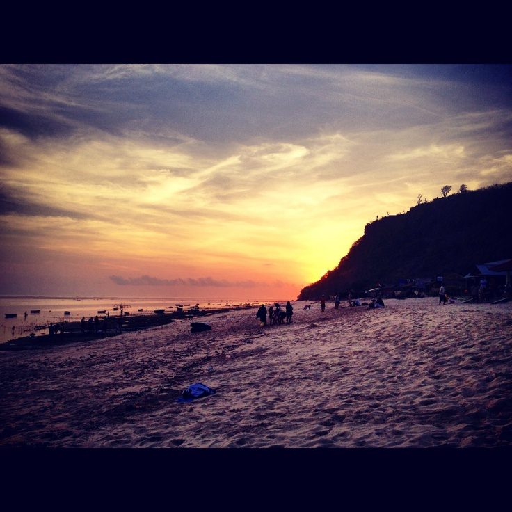 Sunset by the Secret Beach, Bali.