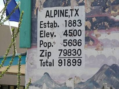 In 1888 the town of Alpine was                                     named. As soon as the townspeople                                     realized that no one had built roads                                     connecting Alpine to the rest of the                                     world things started happening. In                                     1921 they opened Sul Ross State Normal                                     College which later became Sul Ross                                     State University. The town                                     incorporated in 1929. In 1940 the                                     government opened Big Bend National                                     Park and Alpine naturally became a                                     popular entry point. There's no doubt                                     that the University has played a large                                     part in Alpine's growth.