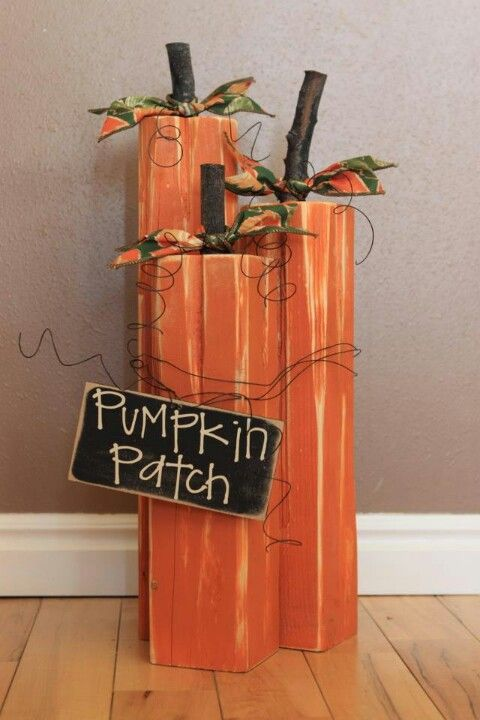 Wood Pumpkins Great For Fall Porch