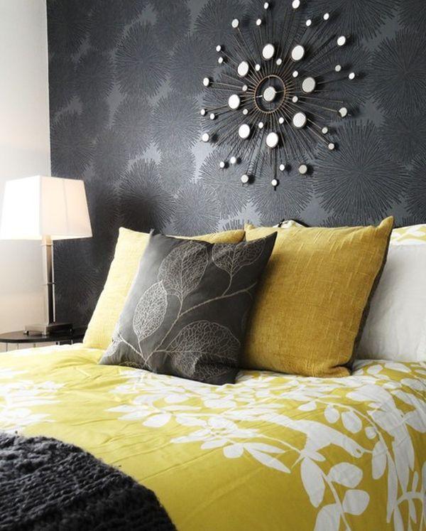 Grey Yellow Bedroom #3